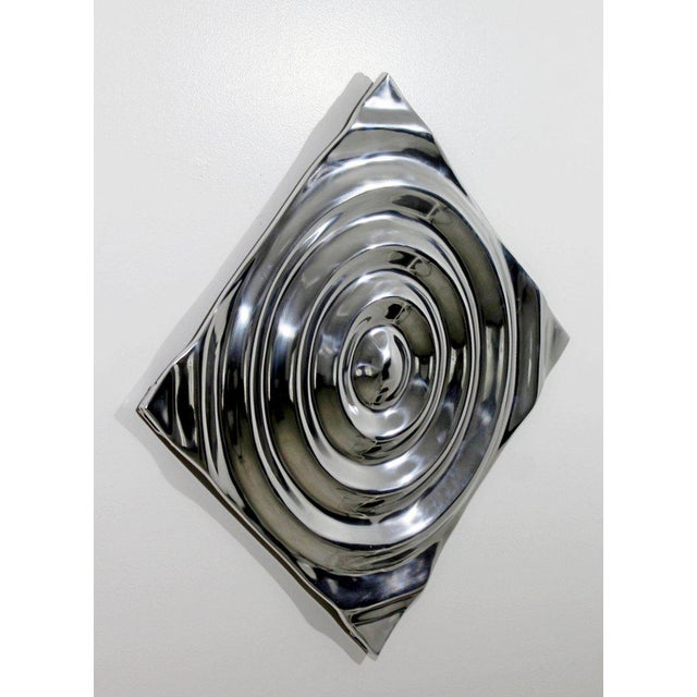 Mid-Century Modern Mid-Century Modern Aluminium Cast Saturn Ring Wall Sculpture Relief, 1970s For Sale - Image 3 of 7