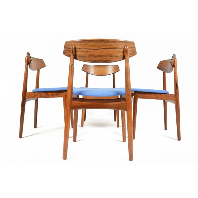 Danish Modern Rosewood Dining Chairs - Set of 4 - Image 5 of 11