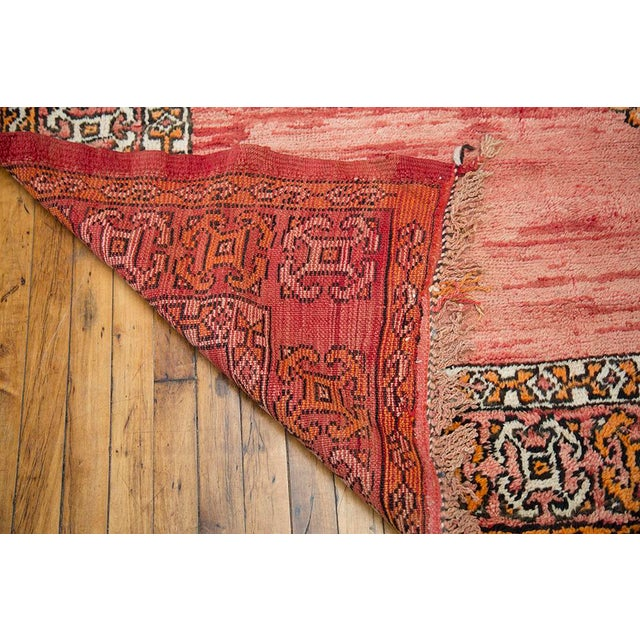 "Red Moroccan Taznakht Rug - 6'7"" X 8' - Image 7 of 8"