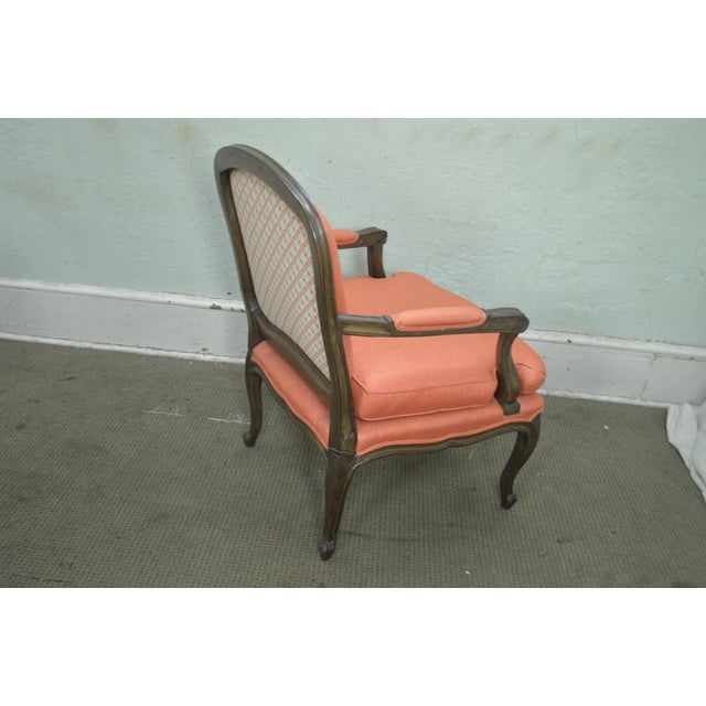 French Louis XV Style Custom Quality Pair of Fauteuils Arm Chairs For Sale - Image 9 of 13