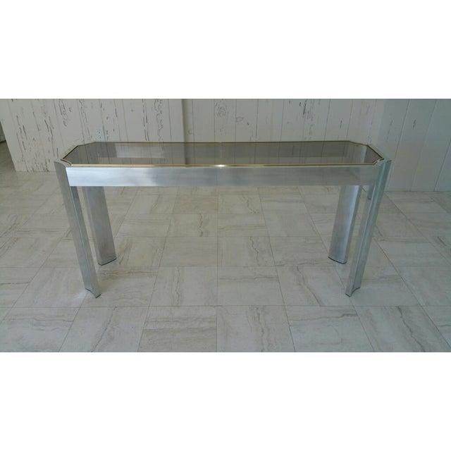Aluminum & Brass Sofa Table - Image 2 of 6
