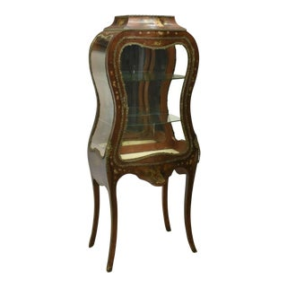 Early 1900s Antique French Louis XV Style Glazed Display Vitrine For Sale