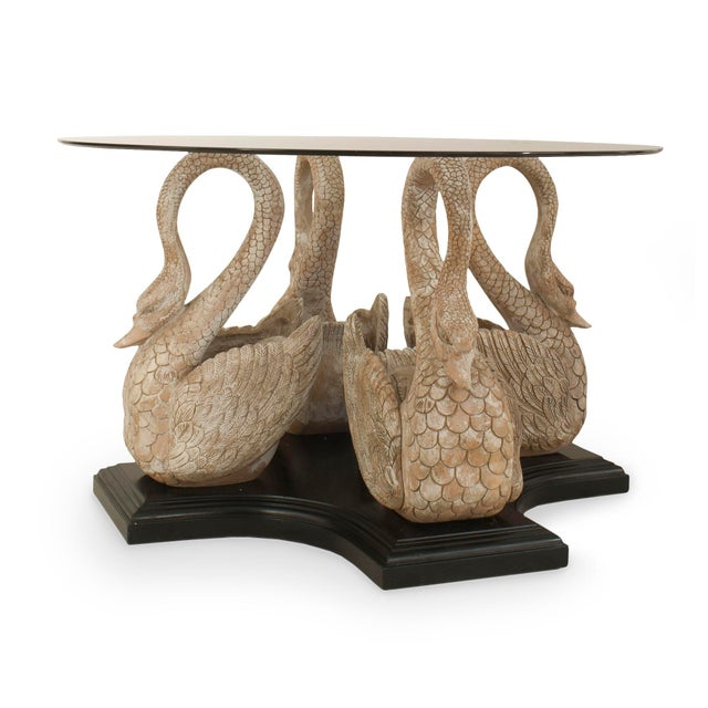 English Country Swan Center Table For Sale - Image 4 of 4
