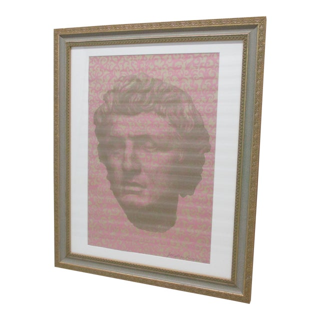 Vintage Original Lithograph of David by Muralist Jonathan Bressler For Sale
