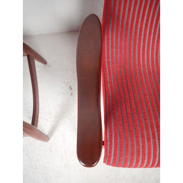 Mid-Century Modern High Back Walnut Lounge Chairs - A Pair - Image 9 of 9
