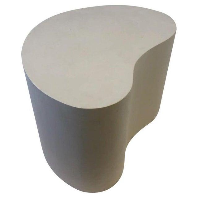 Leather Kidney Shape Side Table by Karl Springer For Sale - Image 10 of 10