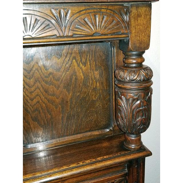 English Oak Renaissance Revival Cabinet For Sale - Image 11 of 13