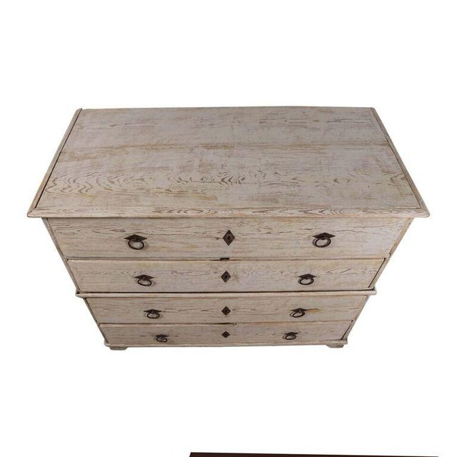 Gustavian (Swedish) 19th Century Swedish Painted Chest-on-Chest For Sale - Image 3 of 7