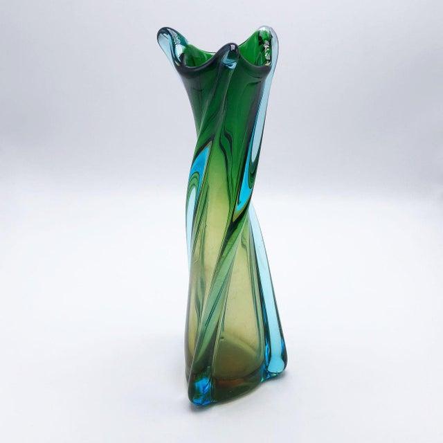 Murano Seguso Glass Vase, C. 1960 For Sale - Image 4 of 5