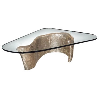 Customizable Bronze & Glass Coffee Table designed by Craig Van Den Brulle For Sale