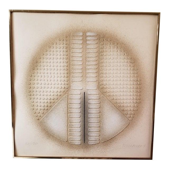 """Peace Art"" Acrylic Stencil Casting Print For Sale"