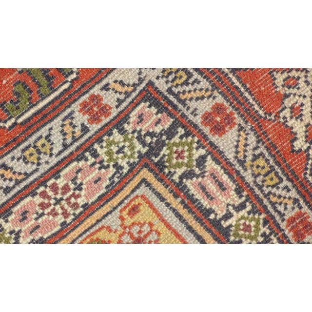 "Persian Faded Pink Senneh Rug - 4'4"" x 6'3"" - Image 5 of 5"