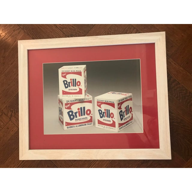 "2010s Andy Warhol ""Brillo Boxes"" Framed Print For Sale - Image 5 of 5"