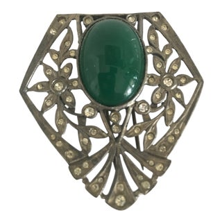 Vintage Kenneth Lane Art Deco Style Clip For Sale