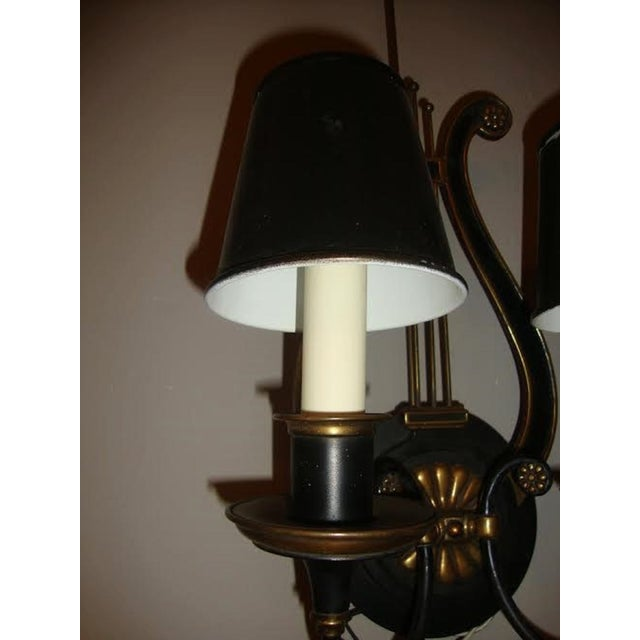 Harp-Form Wall Sconces - A Pair - Image 6 of 7