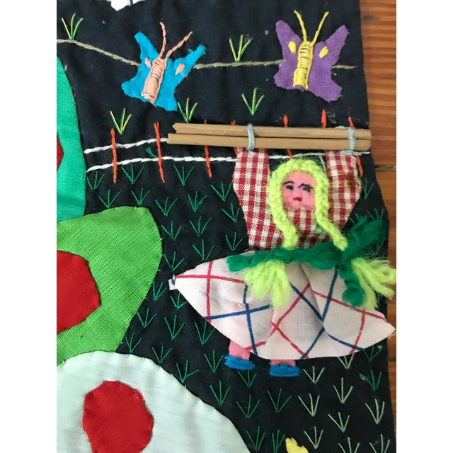 Handmade Columbian Folk Art Embroidery - Image 4 of 6