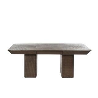 """Karl Springer Signed Snakeskin Embossed Leather """"Partner's"""" Desk / Dining Table For Sale"""