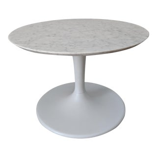 White Marble Tulip Coffee Table For Sale