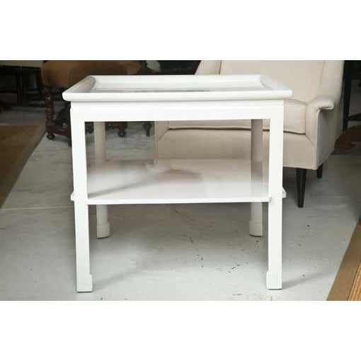 Mid-Century Table in White Lacquer - Image 7 of 7
