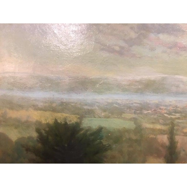 """British Oil on Canvas """"Valley of the Rothe"""" by F. M. de la Coze, 20th Century For Sale In Savannah - Image 6 of 10"""
