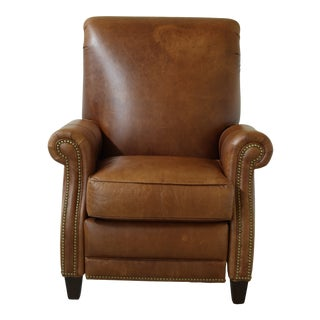 Hancock & Moore Brown Leather Recliner Chair For Sale