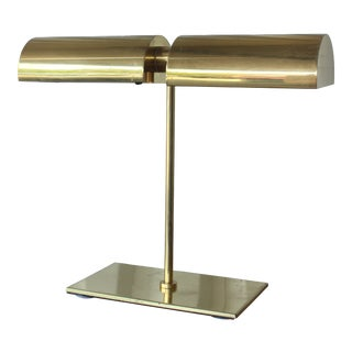 1970s Mid-Century Modern Brass Desk Lamp For Sale