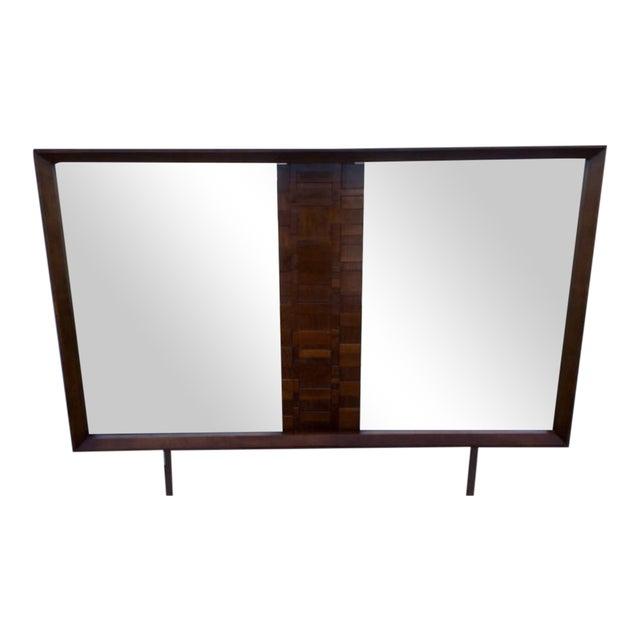 Lane Mid-Century Brutalist Style Mirror - Image 1 of 6