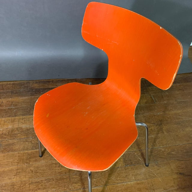 1970s Vintage Arne Jacobsen For Fritz Hansen Dining Chairs-Set Of 5 For Sale - Image 10 of 11