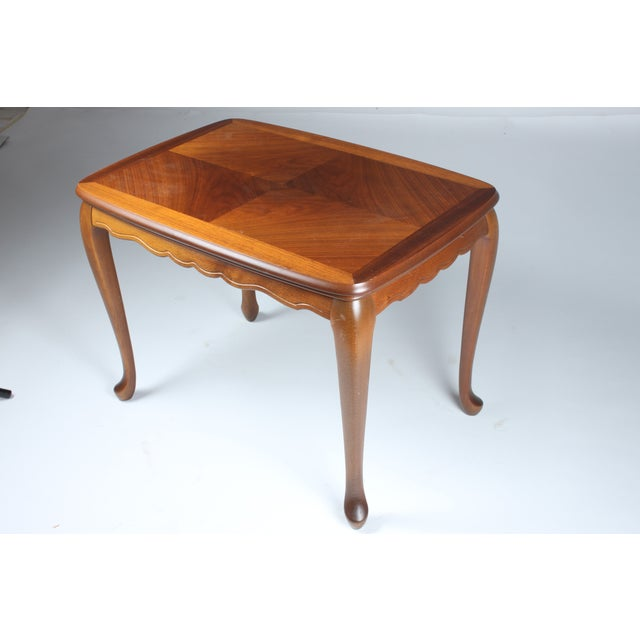 Scalloped Mahogany End Table - Image 2 of 3