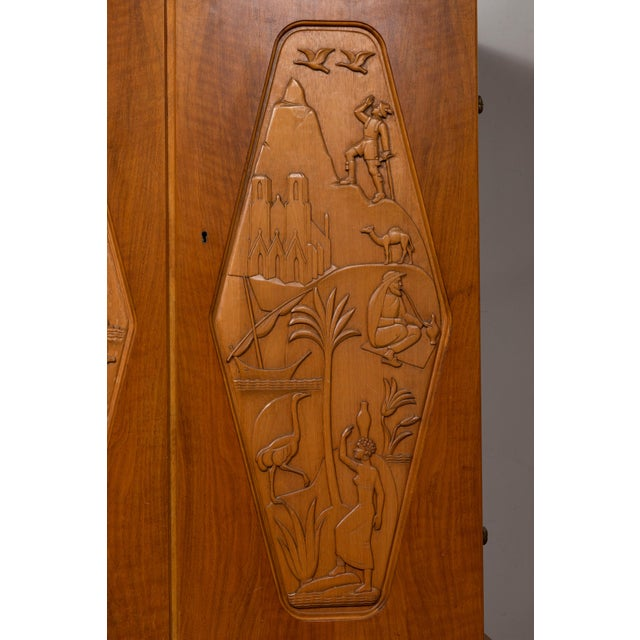 1961 E. Hoglunds Relief Carved Cabinet For Sale In Los Angeles - Image 6 of 11