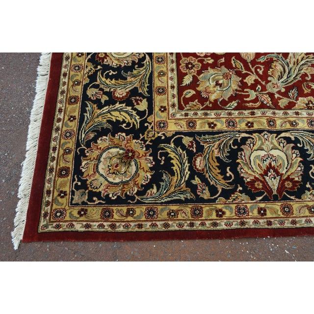 Isfahan 12x16 Hand Knotted Persian Rug For Sale In Philadelphia - Image 6 of 10