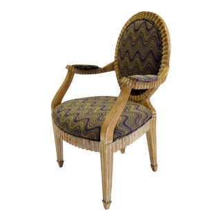 Modern Adaption of Louis XIV Roi Soleil Bergere Armchair , C. 1980s For Sale