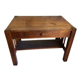 1920s Mission Style Writing Desk For Sale