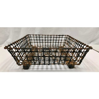 Vintage French Wire Oyster Basket Preview