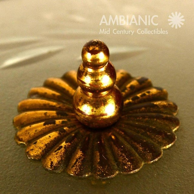 1940s Brass & Glass Urn Table Lamp For Sale - Image 5 of 7