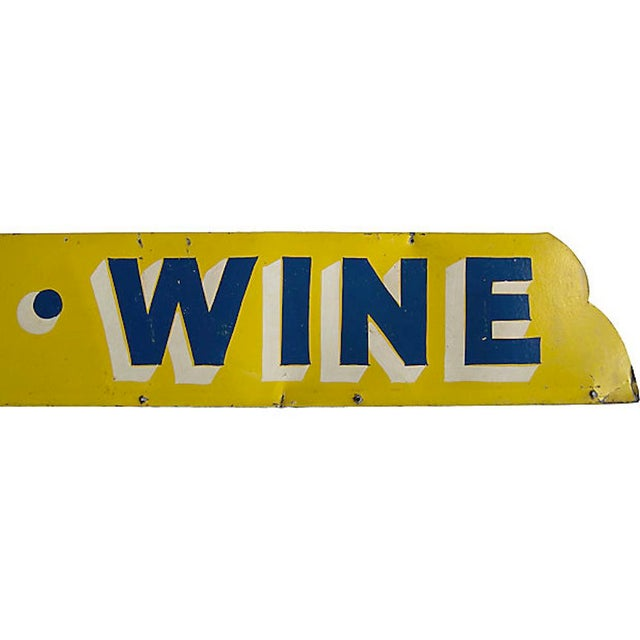 Art Deco Beer Wine Sign For Sale - Image 3 of 5