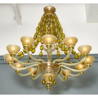 Vintage Murano Glass Chandelier by Barovier Preview