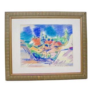 California Gold Country Modernist Painting