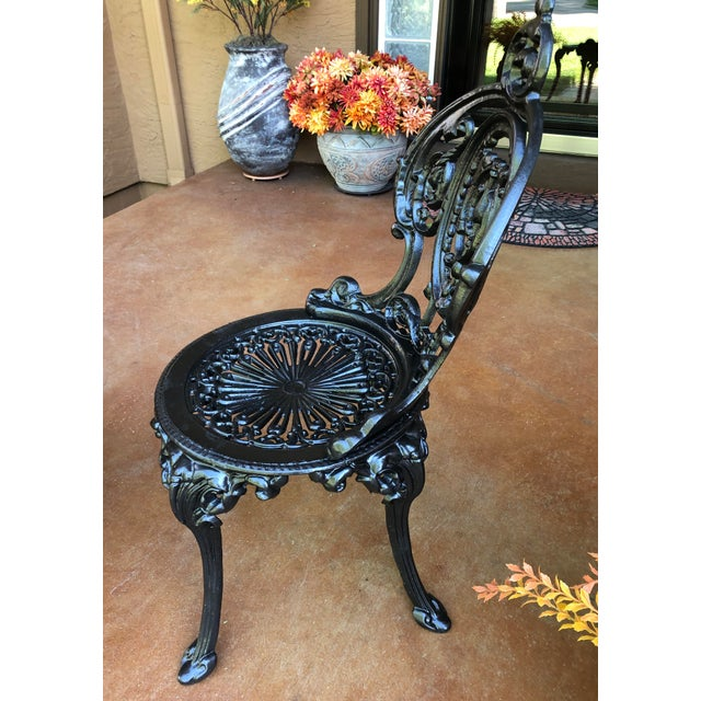 Early 20th Century French Victorian Cast Iron Garden Chair by Atlanta Stove Works For Sale In Kansas City - Image 6 of 13