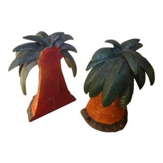 Melannco Palm Trees Bookends - A Pair