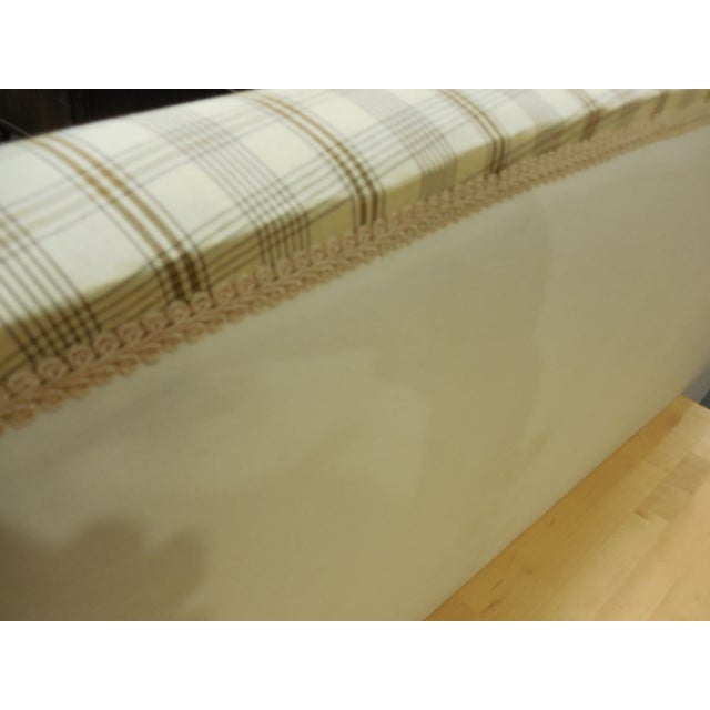 Upholstered Plaid King Headboard - Image 5 of 5