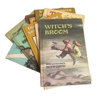 Mid-Century Modern Children's Mystery Books - Set of 9 For Sale