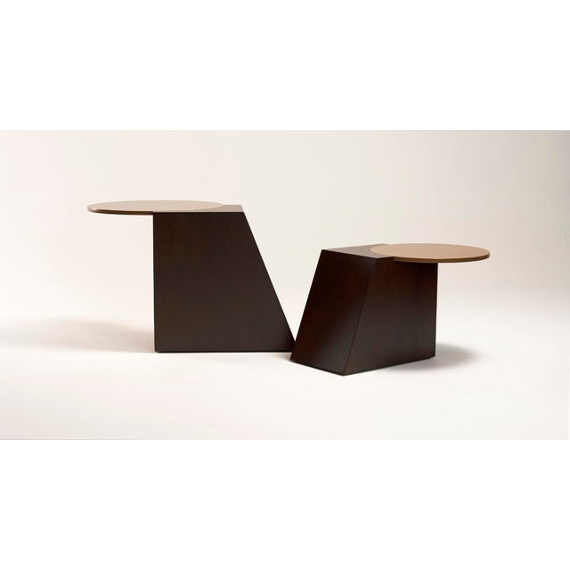 Wood V Tables by Jason Mizrahi - a Pair For Sale - Image 7 of 7