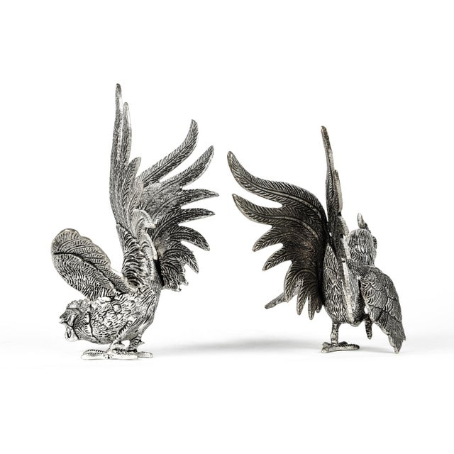 Pair of English Silver Plate Roosters For Sale In New York - Image 6 of 8