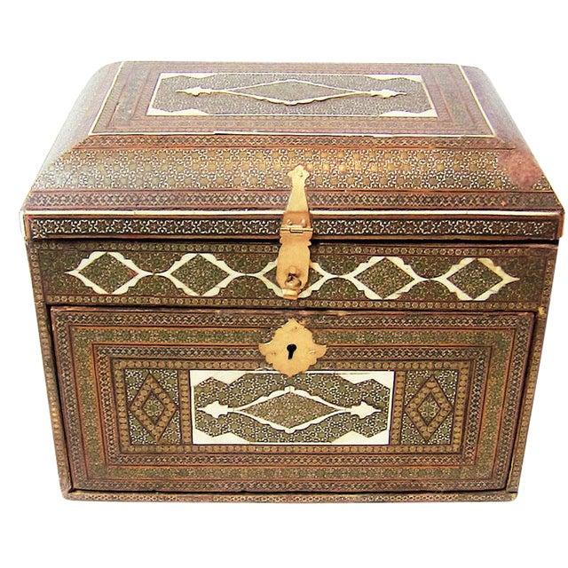 18c Indo Portugese or Persian Vargueno Mini Cabinet For Sale