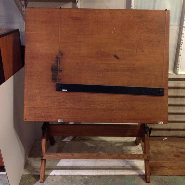 Antique Architect Drafting Table - Image 2 of 8