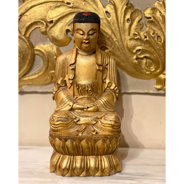 Chinese 19th Century Chinese Qing Dynasty Carved Buddha For Sale - Image 3 of 8