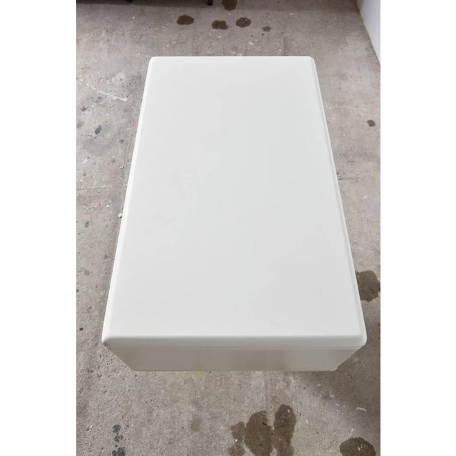 Lacquer Adjustable White Counter Display, Vanity Table, Made in Italy For Sale - Image 7 of 9