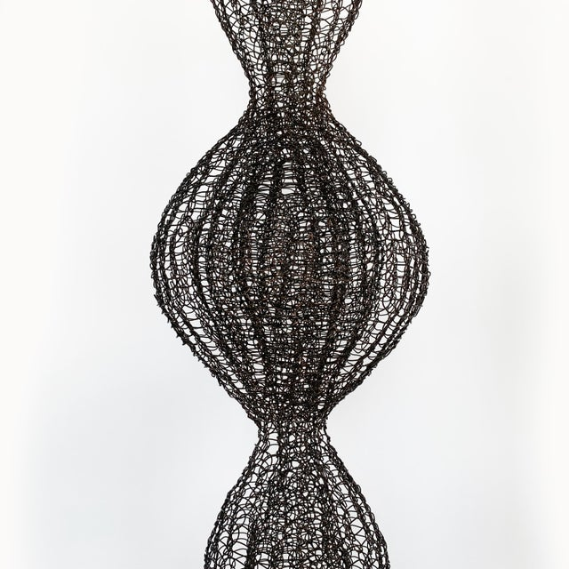 Black d'Lisa Creager Woven Wire Hanging Sculpture For Sale - Image 8 of 11