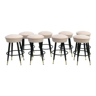 1970s Vintage Swiveling Bar Stools- Set of 8 For Sale